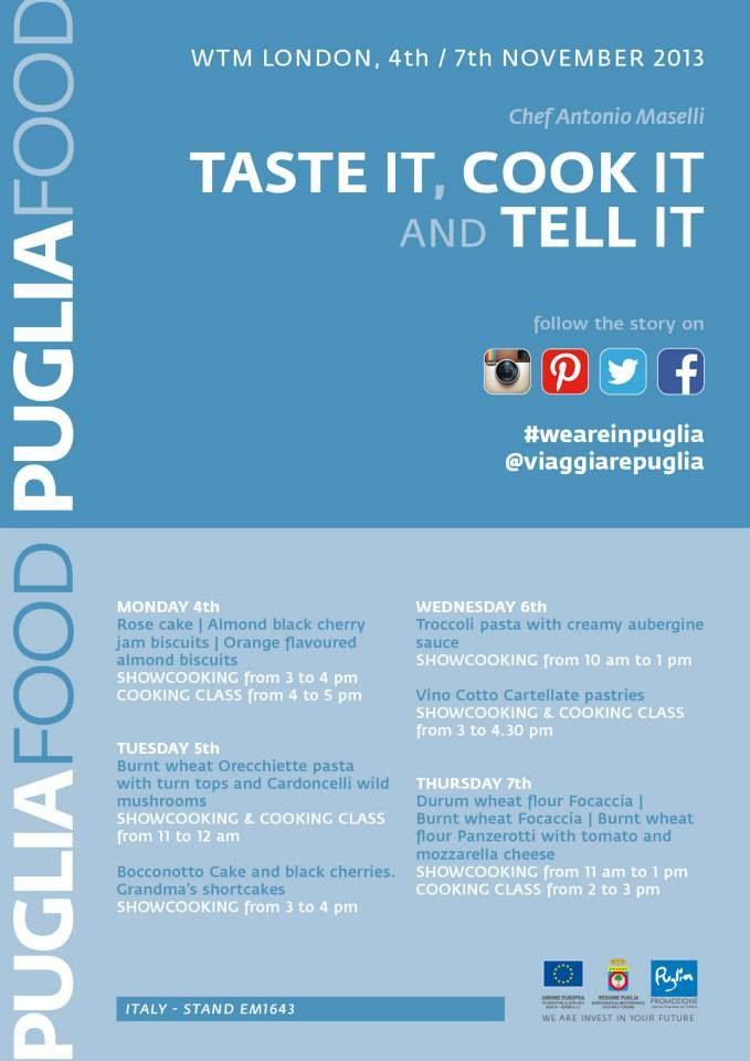 Taste it, cook it and tell it!  #WeAreinPuglia at #WTM13