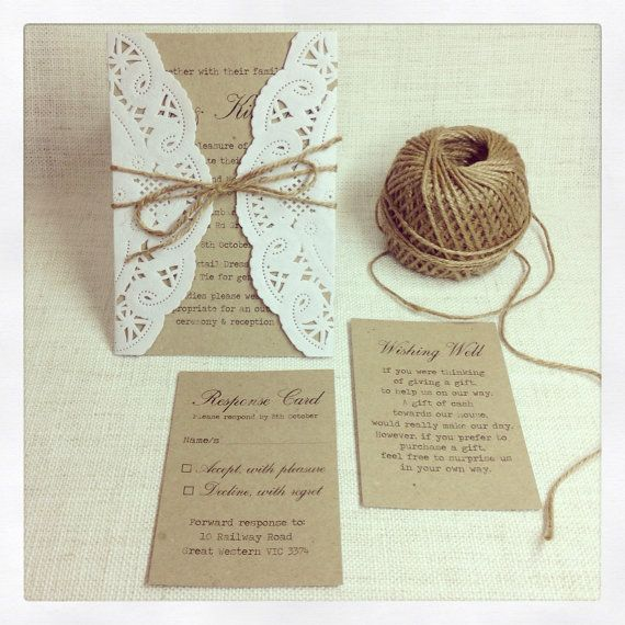 Rustic Wedding Invitation Ideas: Rustic Wedding Invitation Rustic Chic By