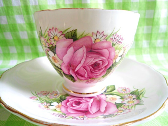 Royal Vale Floral Teacup by RoyalRummage on Etsy, $20.00