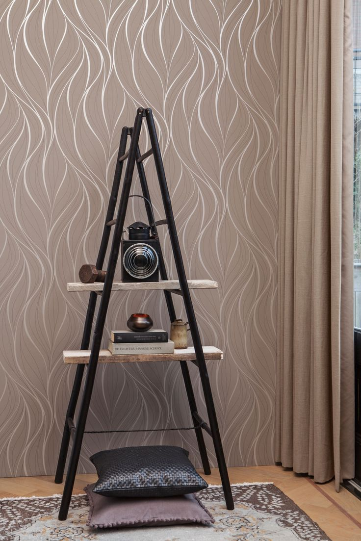 Bruin Behang / Brown Wallpaper collection Moods - BN Wallcoverings