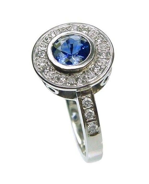 Custom made Ceylon sapphire and diamond platinum ring - Orion Joel Custom Jewellery, JewelleryWatchRetailers, Kensington, VIC, 3031 - TrueLocal