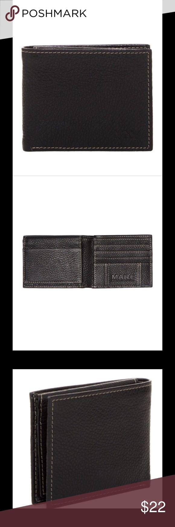 MARC WALLET SALE!PEBBLED LEATHER BLACK PASSCASE 🎁 MARC NEW YORK WALLET ORG. $60.00 PEBBLED LEATHER BLACK BY ANDREW MARC PASSCASE 🎁in the box Marc Accessories
