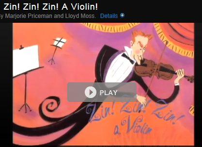 Beautiful video of the book, Zin, Zin, a Violin!