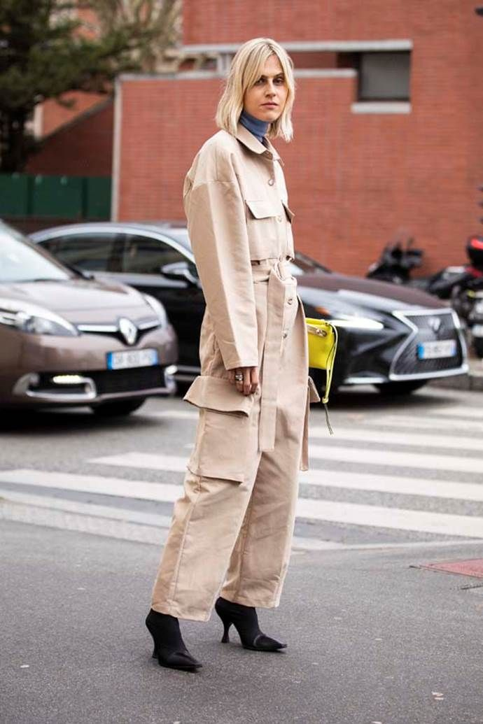 How To Wear Head To Toe Beige 2019's Biggest Fashion Trend