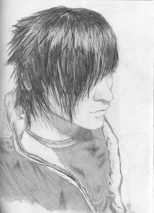 emo boys sketches boy