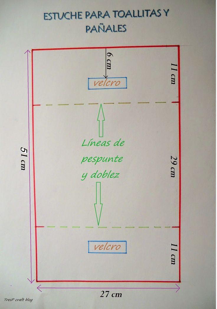 TUTORIAL DE ESTUCHE PORTA TOALLITAS Y PAÑALES