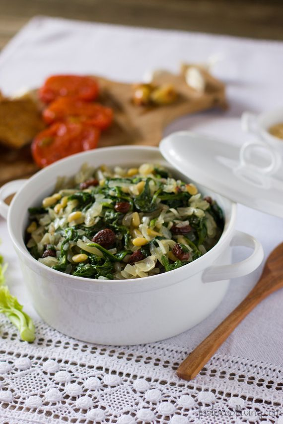 Catalan-Style Spinach | Recipe | Spinach, Spinach Appetizers and ...