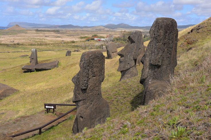 Moai mass production! Do you know of any other ancient stone age society that some kind of factory like this?