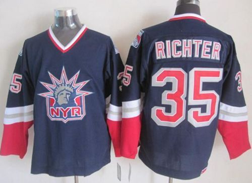 832ba3fad ... cheap buy rangers 35 richter navy blue statue of liberty throwback  jerseys from reliable rangers 35