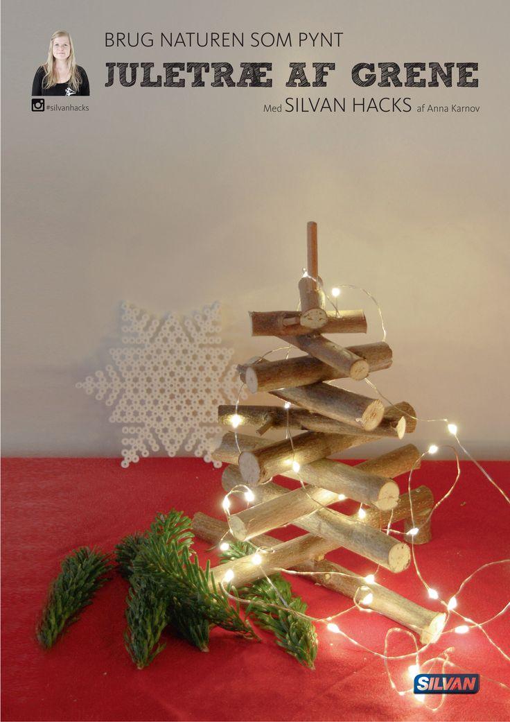 Brug naturen som pynt, og lav et juletræ af grene - med Silvan Hacks af Anna Karnov