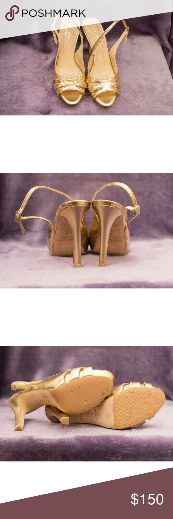 Kate Spade gold open toe heels Gorgeous gold sandal heels NWOT kate spade Shoes Heels
