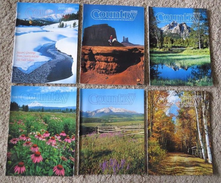 6 LOT Jan to Dec 1996 Country Farm Living American Bed & Breakfast Inns Travel #ReimanPublishing