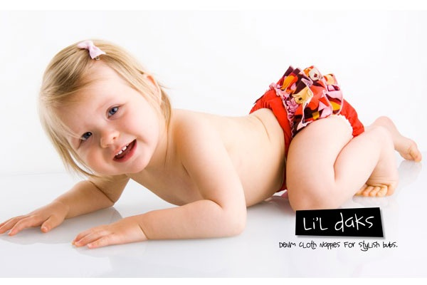 Designer cloth nappies look fabulous!