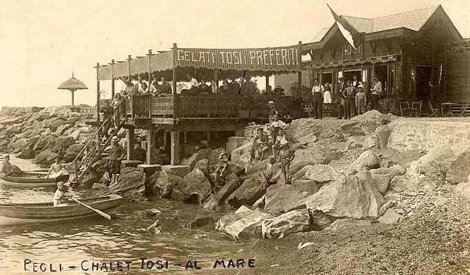 PEGLI - Bagni Tosi - FOTO STORICHE CARTOLINE ANTICHE E RICORDI DELLA LIGURIA