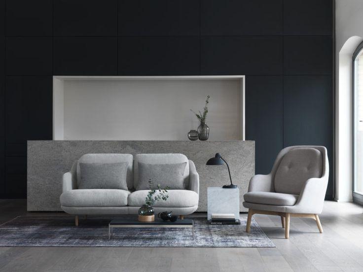 #grey #greynterior #livingroom | Fritz Hansen Introduces Lune - A Sofa by Jaime Hayon - Design Milk