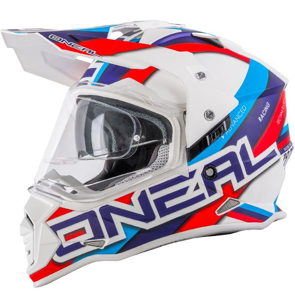 White//Blue//Red, M ONeal 2 Series Unisex-Adult Off-Road Helmet
