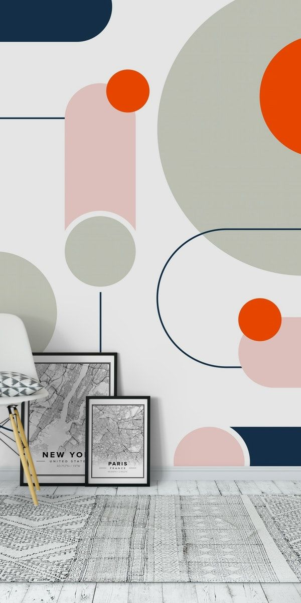 Abstract Shapes Wallpaper Wall Paint Designs Wall Murals Mural Wallpaper