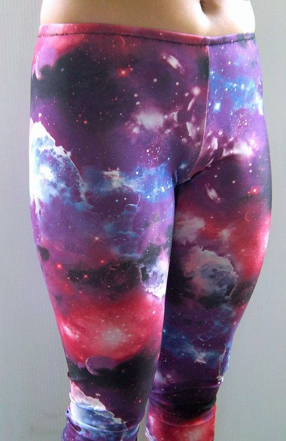Galaxy-Leggings bedruckte Leggings Yogahosen Running von nanmadetoo
