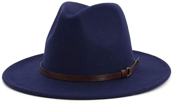 Men women belt buckle fedora hat wide brim panama hat – Products