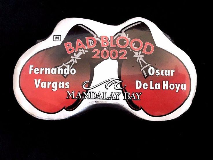 NIP BOXING-BAD BLOOD 2002-Fernando Vargas-Oscar De La Hoya Tee Shirt Size M RARE #MandalayBay