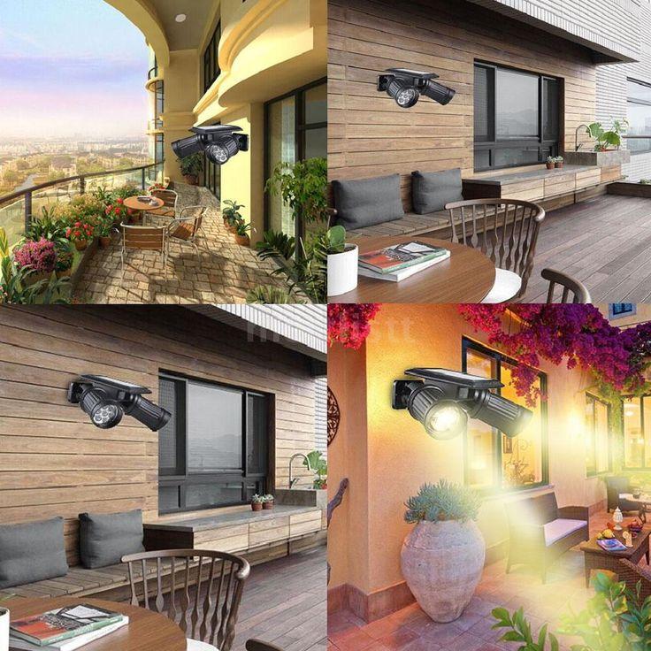 Neu Warmweiß Solar Leuchte Wandleuchte Landscape Bewegungssensor Strahler S1V1 in Garten & Terrasse, Beleuchtung, Sonstige | eBay!