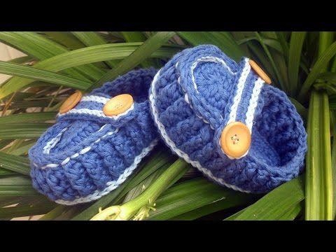 Zapatitos estilo mocasín en crochet - Instrucción zapatitos de BerlinCrochet - Parte1, Suela - YouTube