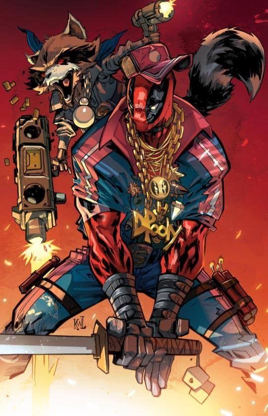 Deadpool and Rocket Raccoon by Ken Lashley *