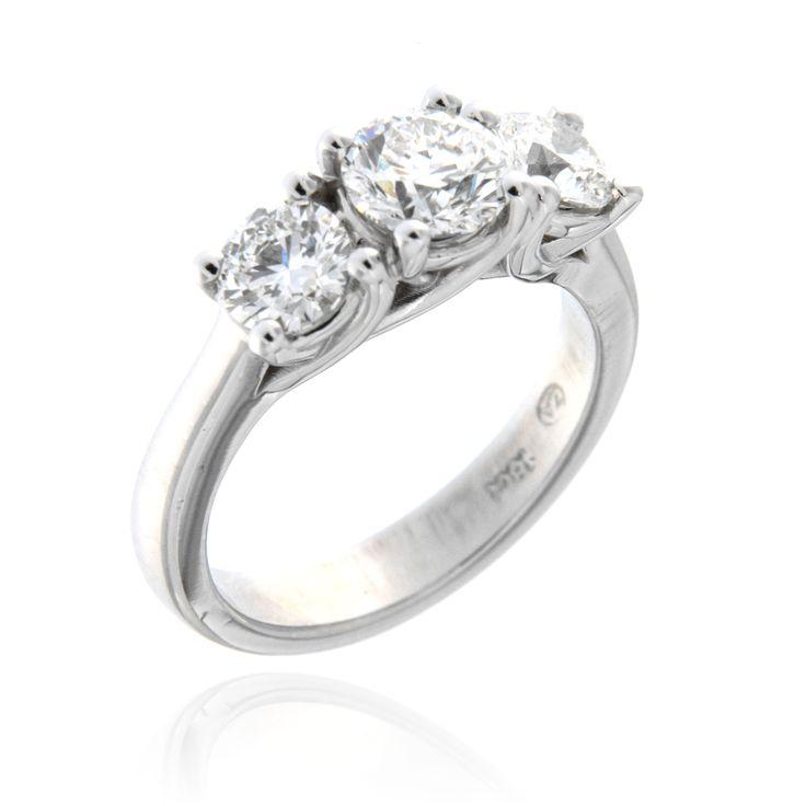 Three Stone Diamond Engagement Ring – 3300002