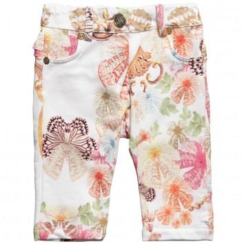 Roberto Cavalli Baby Girls Floral Cotton Trousers at Childrensalon.com