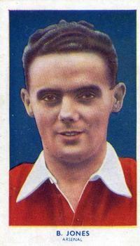 1939 R & J Hill Famous Footballers Series 1 #1 Bryn Jones Front