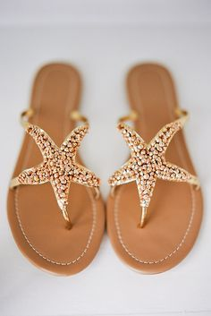 Starfish Sandals? We'll take two.   18 Wedding Sandals You'll Want To Wear Again