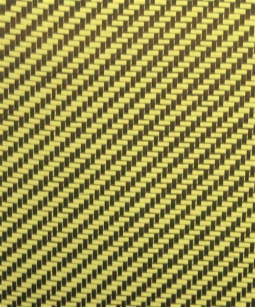 50% Carbon Fiber 50% Yellow Kevlar Twill Weave