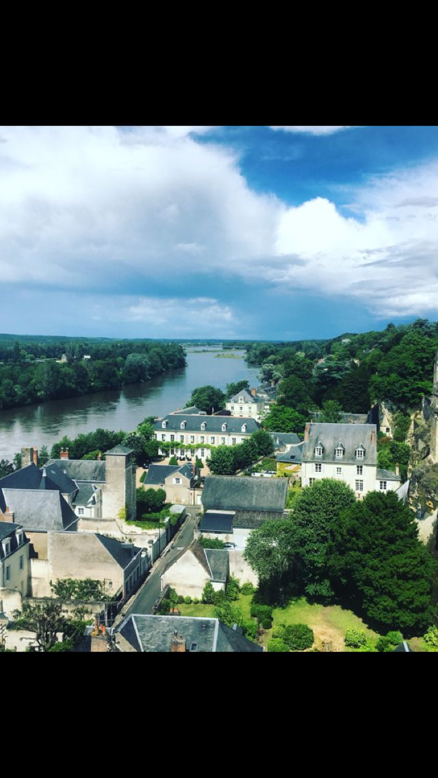 Loire river view from Chateau in Amboise