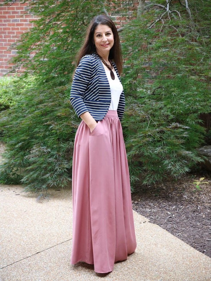 Rayon Maxi Skirt with pockets from Jennifrr's Couture