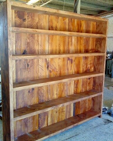 """The stunning """"Bookcase"""", made in New Zealand from Macrocarpa. 2m x 1.8m Buy Now: http://www.macsmacrocarpa.co.nz/page18.html"""
