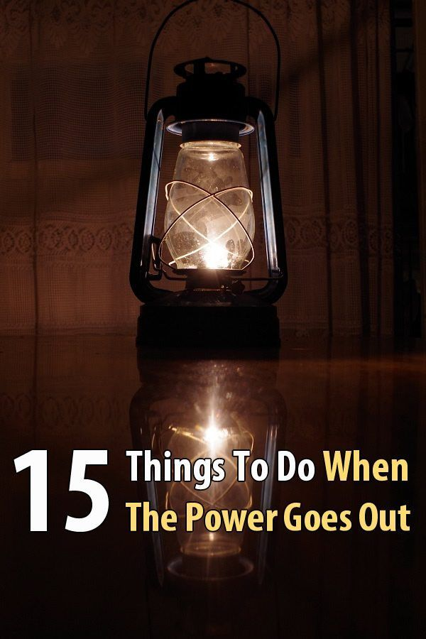 15 Things To Do When The Power Goes Out. When the lights go out, the following things should be done in order to stretch resources, keep your family calm, and make the power outage more tolerable. #Poweroutage #Urbansurvivalsite #Planandprepare