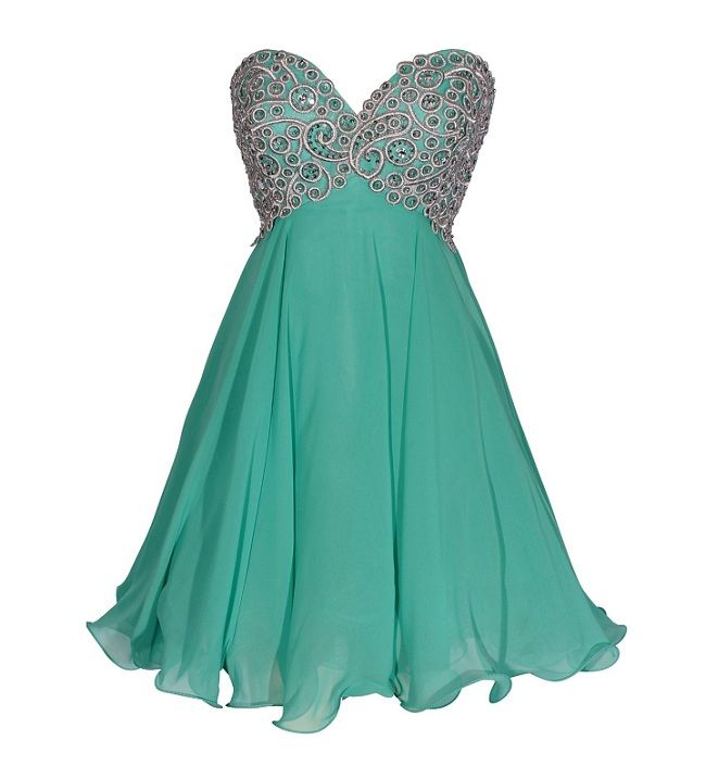 Sweetheart Long Dresses Teens Green Homecoming