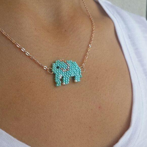 Fil mi kolye? #miyuki #miyukibeads #miyukikolye #elephant #elephantaccessories #miyukielephant #miyukinecklace #elephantnecklace
