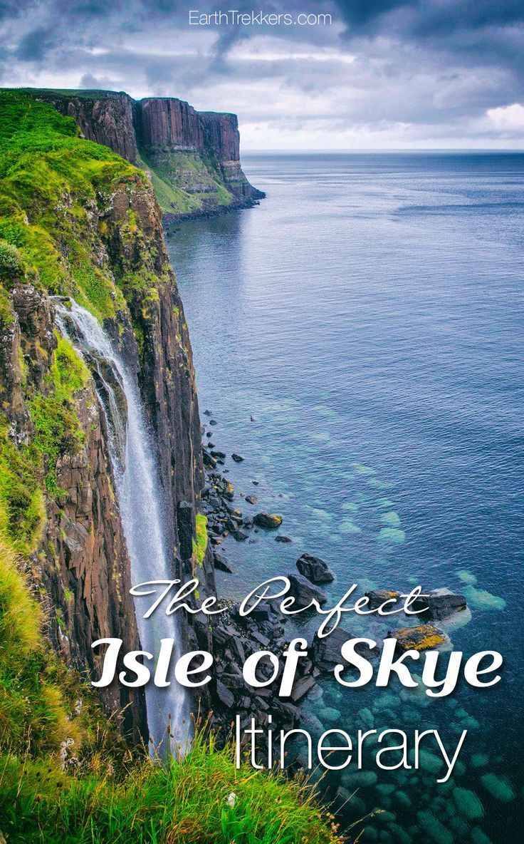 Isle of Skye itinerary. How to spend one, two, three days or longer, visiting the highlights like the Trotternish Loop, Fairy Pools, and more.