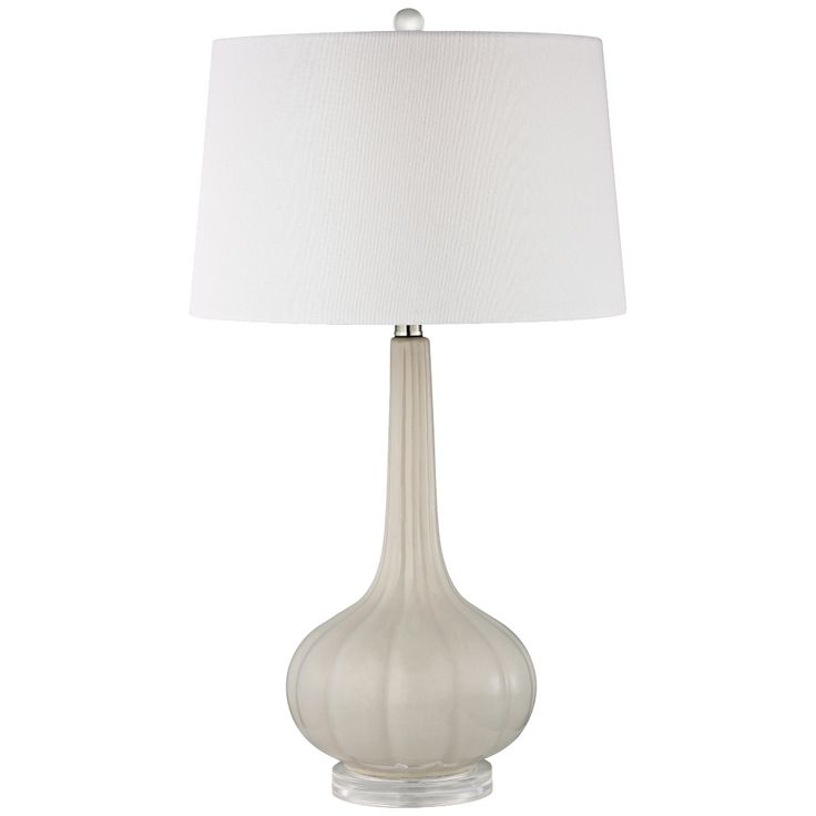 Elegant Dimond Abbey Lane Off White Ceramic Table Lamp   Style # 7R233