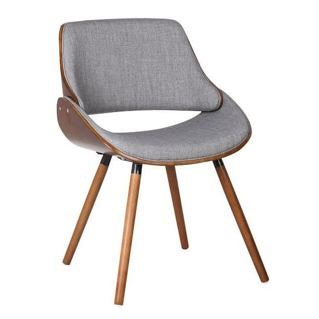 Decorate your study room, home office or dining room with this modern chair. This dining chair makes for a great fabric accent chair for a reading nook.