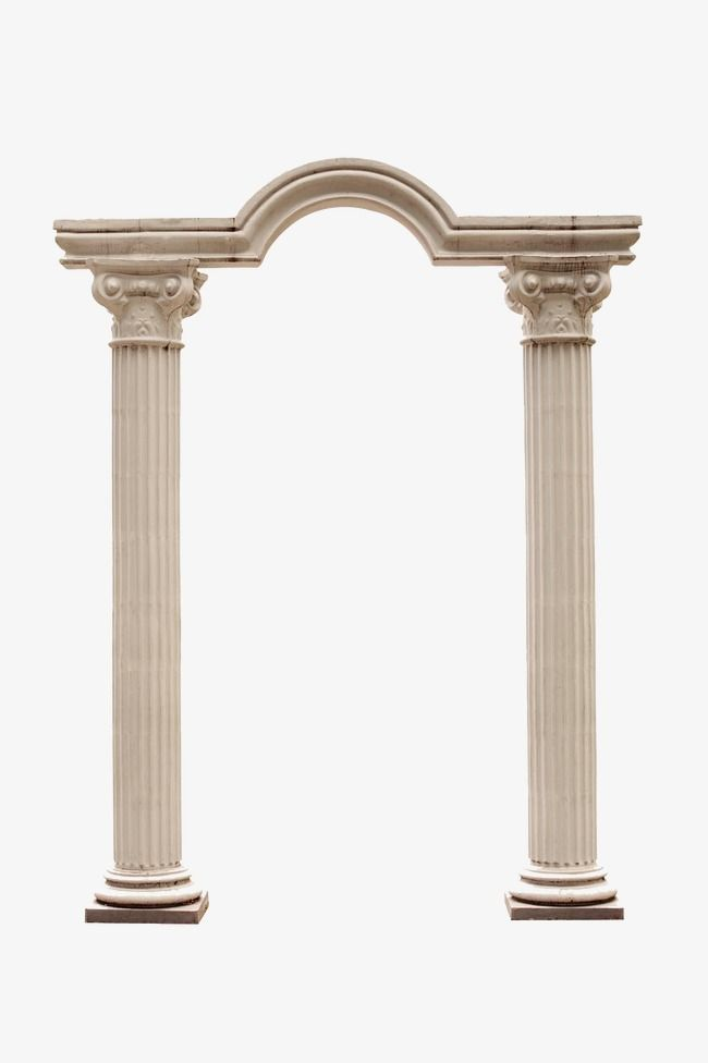Classical European Roman Column Two Famous Buildings