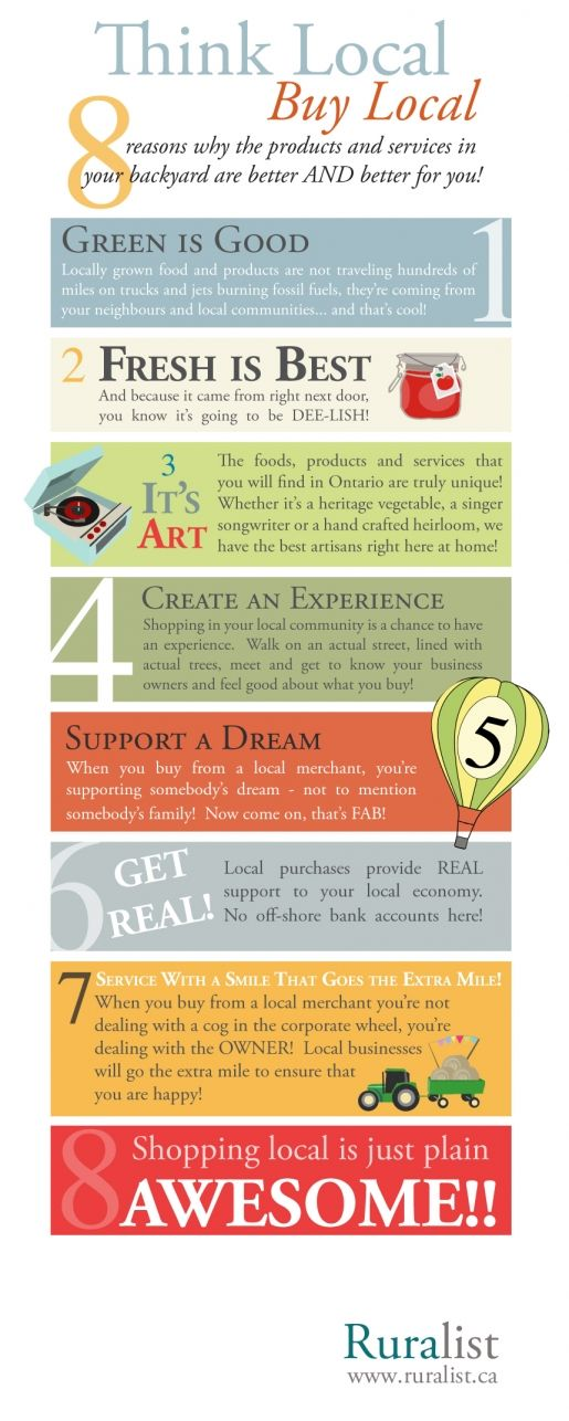 8 Reasons to Shop #Local (an Infographic) (please pass it on!)  #livelovelocal