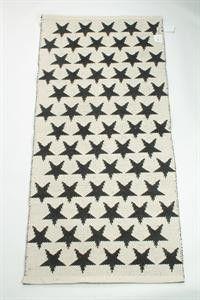 La Finesse Vloerkleed plastic met sterren zwart en wit