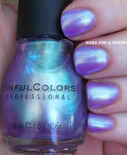 Sinful Colors - Let Me Go (over Essie Play Date) - so this is what I do with SC Let Me Go, huh? This is awesome.