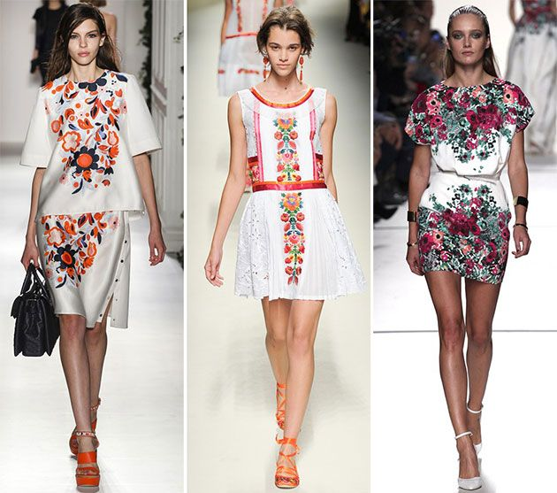 Spring/ Summer 2014 Print Trends - Floral Prints  #trends #fashion