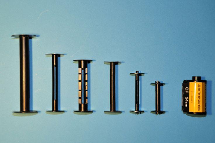 Film Spool Sizes left: 122, 116, 120, 620, 127, 828, 135 © Dirk HR Spennemann 2010