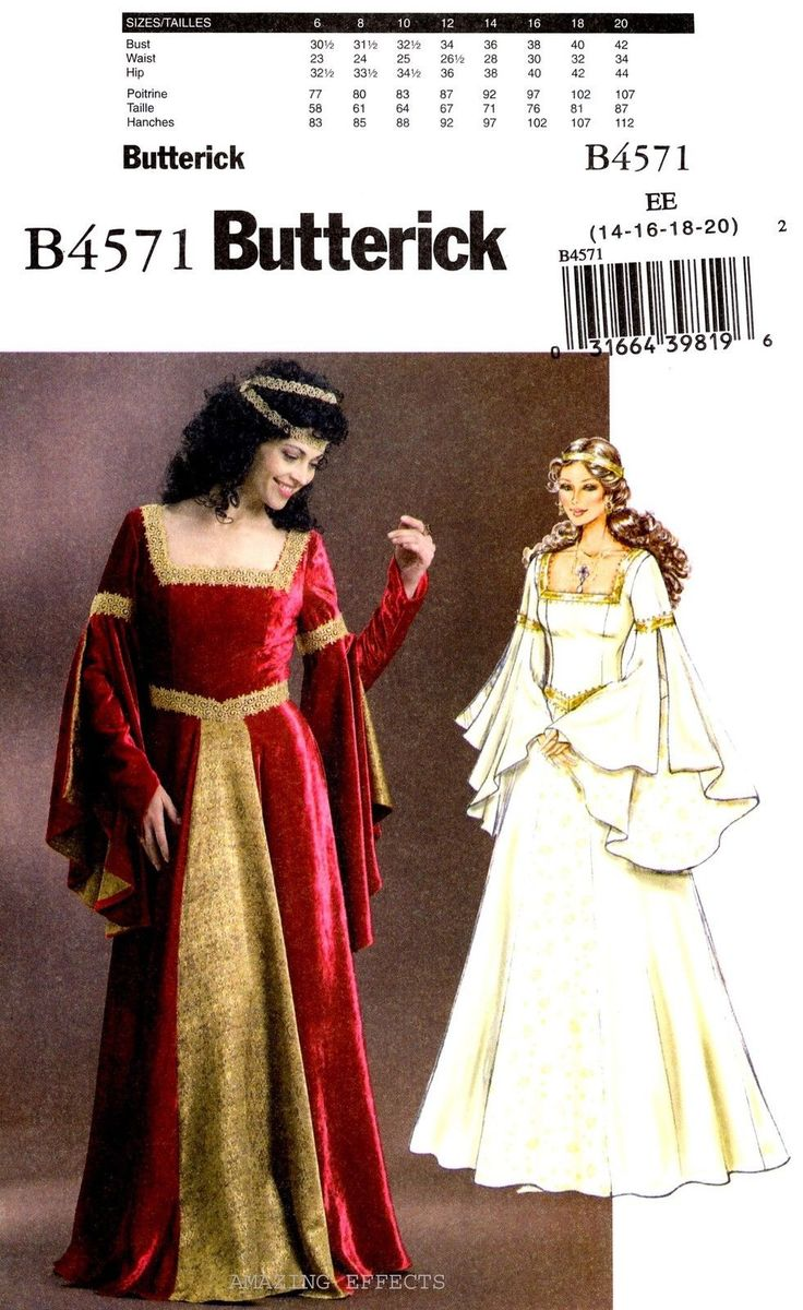 124 besten SEWING PATTERNS - Costumes Bilder auf Pinterest ...