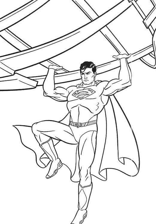 Superman in daily planet coloring page