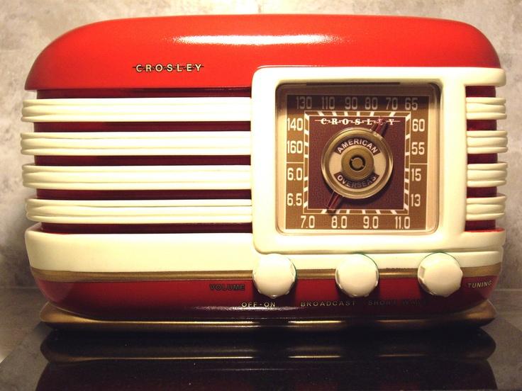 Antique Radio,Raceway AM-Shortwave Tube Radio Art Deco